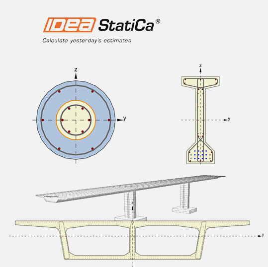 IDEA StatiCa - це гнучкий інструмент для проектування і розрахунку вузлів і з'єднань залізобетонних і попередньо-напружених залізобетонних конструкцій.